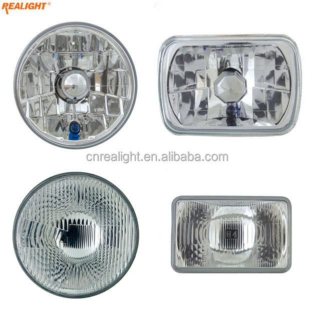Replaceable Auto Lamp 5 7 Inch Round Square Semi Sealed Beam