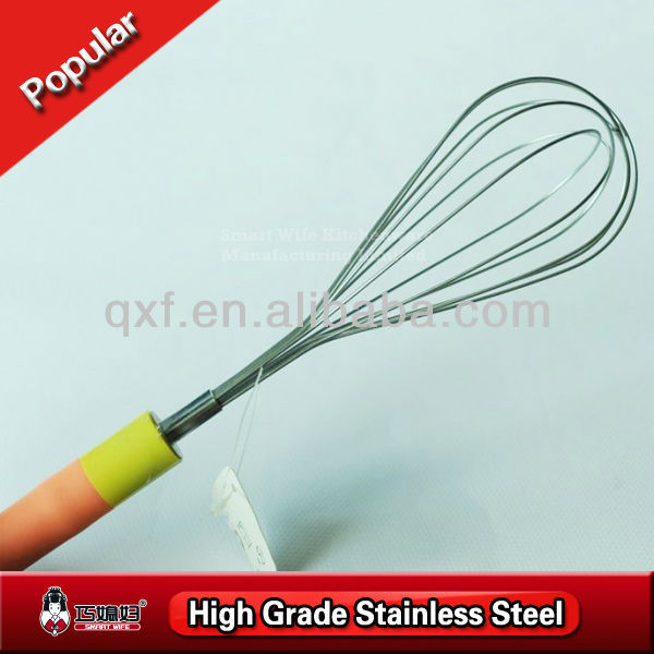 Good graded plastic handle SS201 wire egg beater
