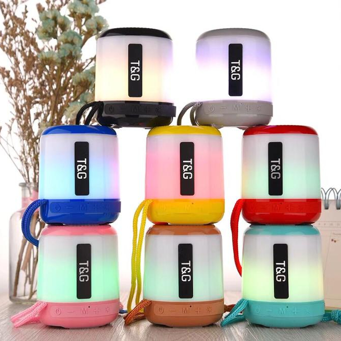 2018 kingwon hot selling New LED light Colorful portable wireless MINI bluetooth <strong>speaker</strong> with USB, TF card, SD card & FM radio