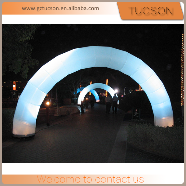 wholesale custom made attractive inflatable 6m wedding arches lighting decorations for advertisement
