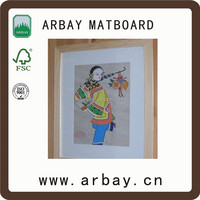 stand paper matboard/high quality arts crafts paper mat board for art