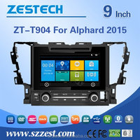 9 inch headrest car dvd player for TOYOTA ALPHARD 2015 gps navigation box with CE EMC LVD FCC