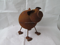 Rust Metal farm pig ornament