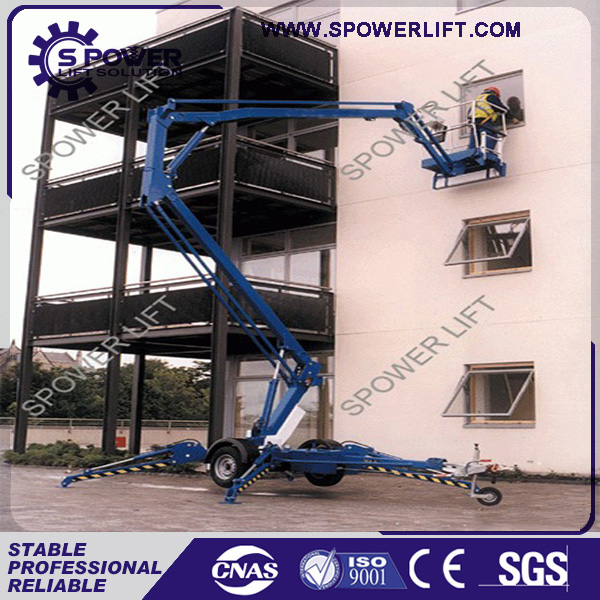 Spowerlift hydraulic electric aerial work boom platform gtwy-12
