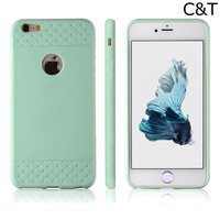 C&T Mint Green Silicone Case Soft Cover for iPhone 6/6S