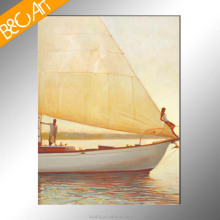 Summer Sailing Boat Impressionism Picture Canvas Art Oil Painting for Sale