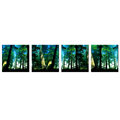 Virgin Forest HD Canvas Prints Home Decorative Canvas Wall Decor Nature Scenery Giclee Prints Wholesale 4-Panel