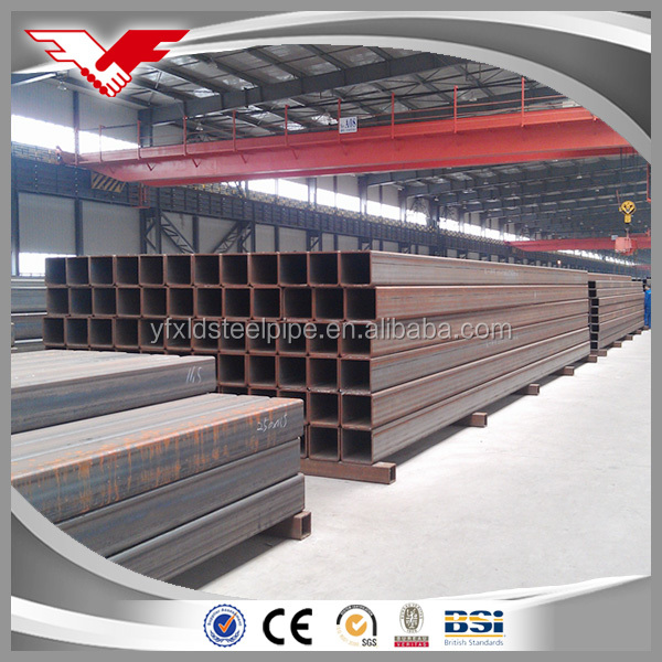 Good quality welded black steel pipe used for building structure