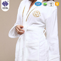 100% cotton bathrobe gown hotel white soft bathrobes home use bathrobe