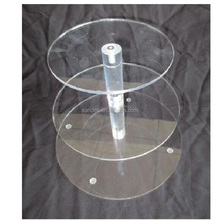 3Tier Acrylic Crystal Round Cupcake Stand for Wedding Party Cake Stand Display