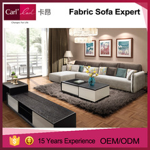 Great comfort modern design fabric sofa sets with removable covers