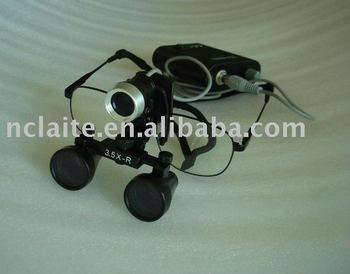1W LED headlamp with magnifier 3.5X surgical loupes dental loupes