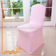 Pink Spandex Lycra Chair Cover