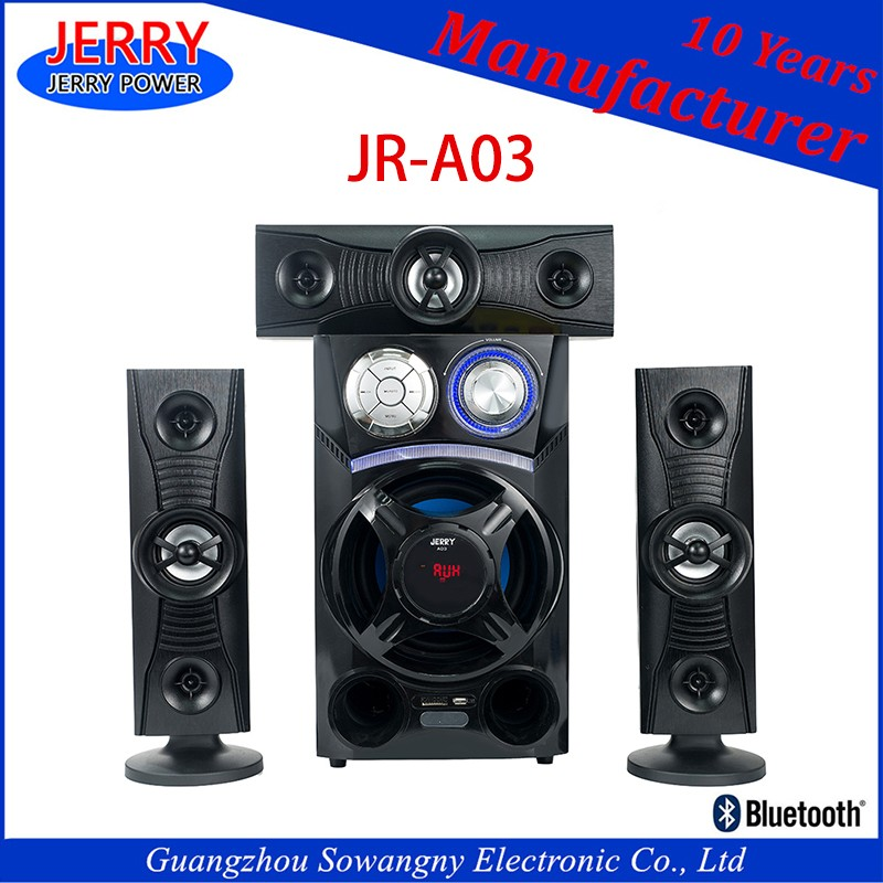 3.1 Ch Home Cinema System For Home Theater Using Red Color Popular Speaker Model D30