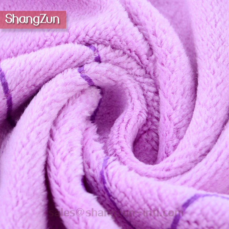 615 grams In Sage OEM Available Light Weight Yarn Dyed 100% Polyester Microfiber Hand Towel