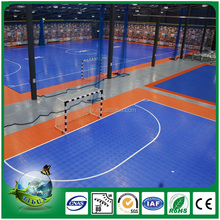 Indoor sports court using PVC flooring for basketball field