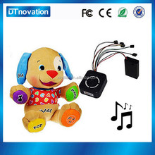 Battery operated singing dog musical plush toy