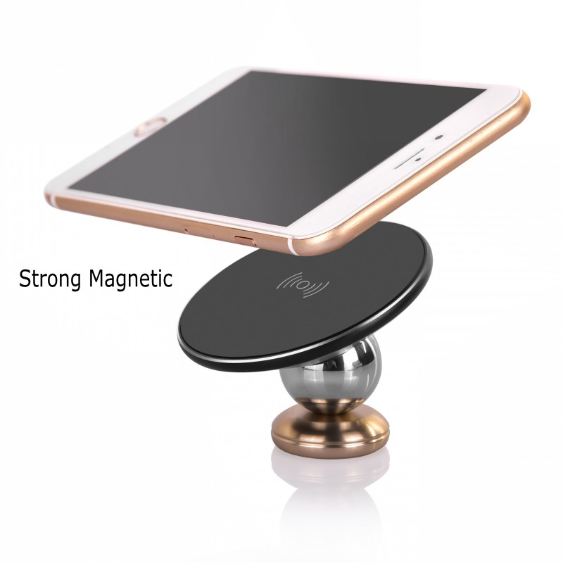 Wireless magnetic car charger phone holder QI wireless charger with wireless receiver charging for iPhone 5 6 7 8