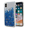 Crystal Clear Airbag Design TPU Back Cover For iPhone X Case Luxury, Bling Star Glitter Liquid Phone Case For iPhone X