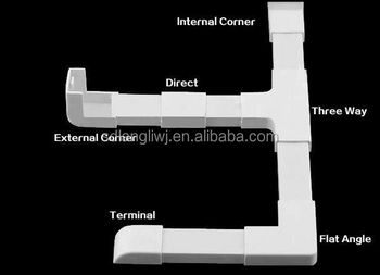 pvc trunking fittings for 16x16 ,25x10