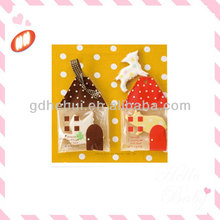 new design house shape cookie packaging plastic bags in beauty