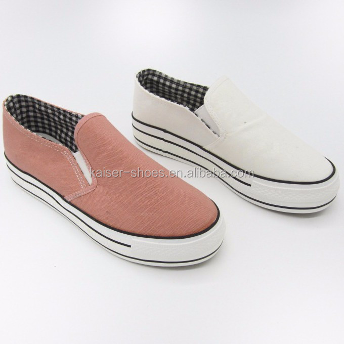 whole sale casual loafer shoes canvas shoes stock shoes women