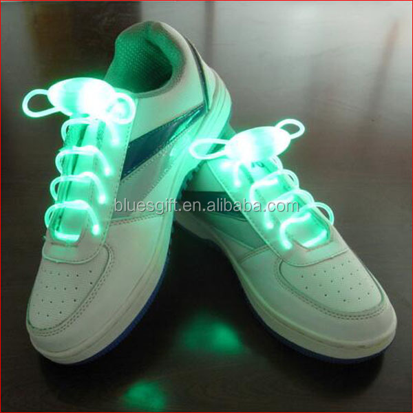 2016 wholesale Flashing green LED Shoelace