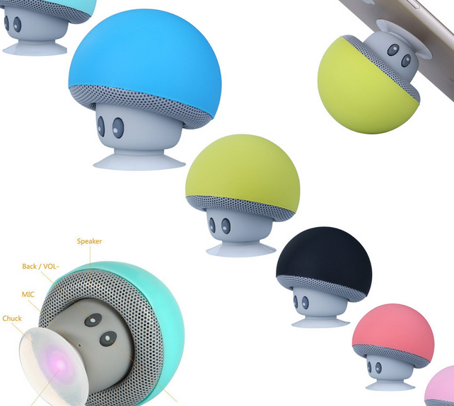 Creative Mini Mushroom Chuck Mobile Phone Holder Bluetooth Speaker