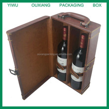 luxury pu leather wine packaging gift box
