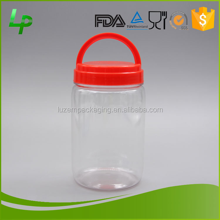 China Suppliers Large 1000ml PET Plastic Cookie Jar