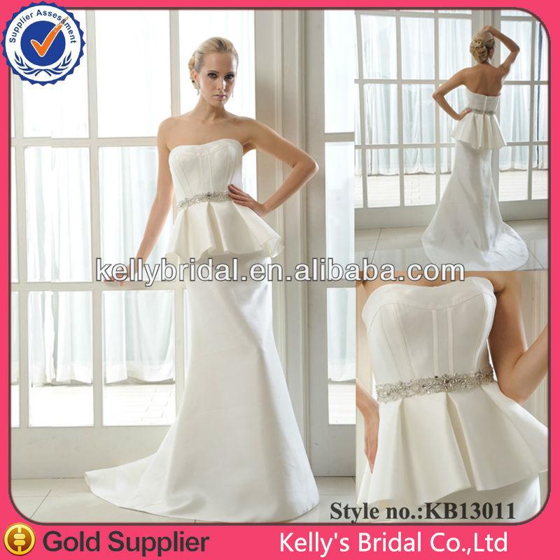 Simple Mikado Wedding Dress Satin Wedding Dress - Buy Simple Wedding ...