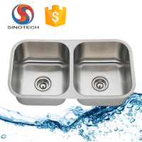 Premium Quality double bowl stainless steel drawn kitchen sink 50/50
