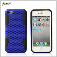 forever popular silicon+pc mesh hybrid combo case for iPhone 5C