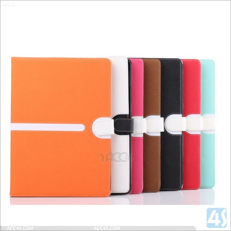 contrast color wallet PU leather covers cases for ipad air 2
