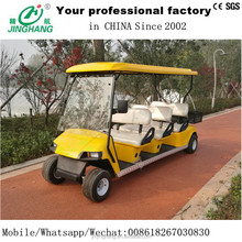 6 seater white gas or electric sightseeing cars with high quality and rear basket