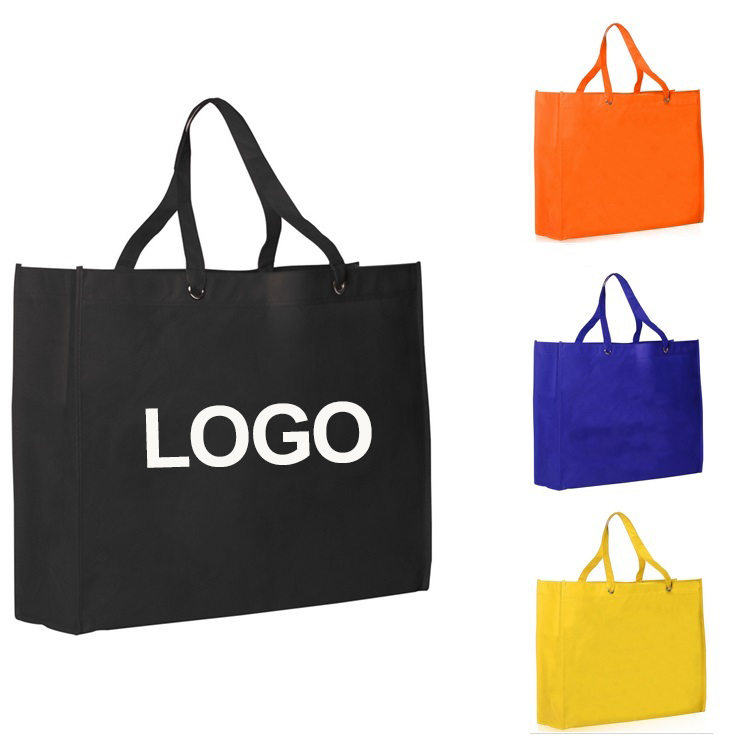 High Quality Reusable Custom Logo Printed PP Non Woven Luxury Large Tote Shopping Bag in Alibaba