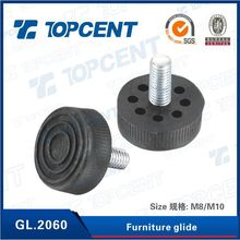 Raw material with iron foot pin plastic chair glides