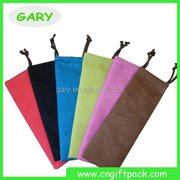Promotional Solid Color Velvet Pen Gift Bag