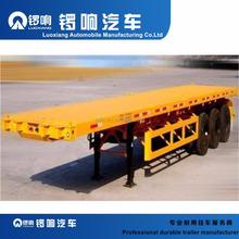 3 Axle 40ft 20ft 40 Feet Flat Bed Truck Container Flatbed Semi Trailer For Sale