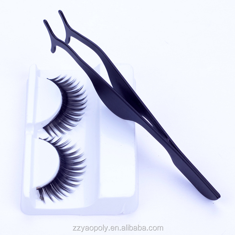 cheap price plastic tweezers eyelash extension for magnetic eyelashes