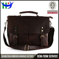 Latest college messenger bags for men designer laptop satchel crazy horse leather messenger bag handicraft men's messenger bag