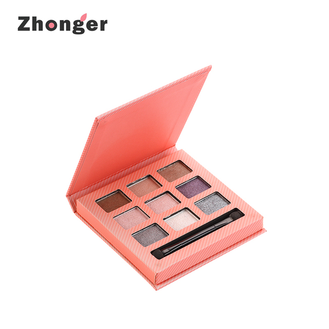 Newest Easy-coloring Excellent Adhesion Colorful Eye Shadow Palette 9colors