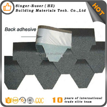 Roofing Building Materials Red Modified Bitumen Fiberglass 3-tab Asphalt Malaysia Shingles hexagonal asphalt shingle roof tile
