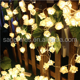 christmas party decoration outdoor indoor solar battery led rose fairy string wedding light
