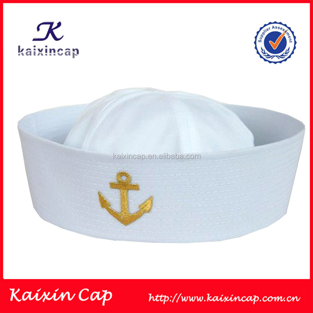 wholesale high quality custom made 100% cotton screen printed sailor hat