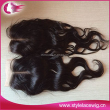 Factory price hot selling stock natural part hair closures