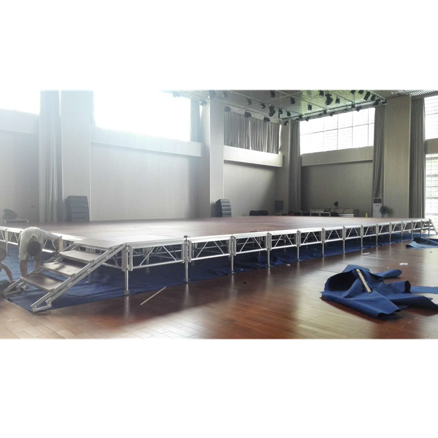 High Quality 1.22*1.22*0.6-1m factory price aluminum outdoor concert <strong>stage</strong> mobile <strong>stage</strong> event <strong>stages</strong> for show