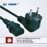 schuko cable to c13, vde power cord, euro power cord