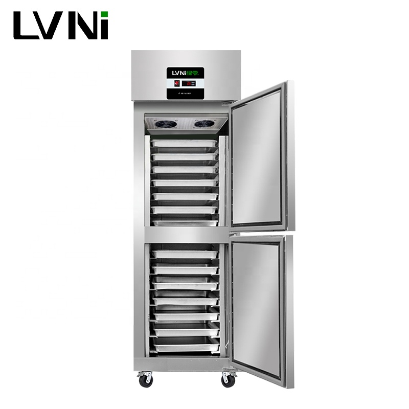 LVNI P series 2 doors 500L bakery dough fridge refrigerator with grill pans