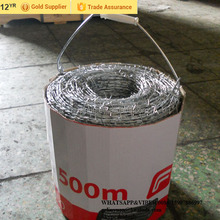 Facory low price for barbed wire fencing wire cost